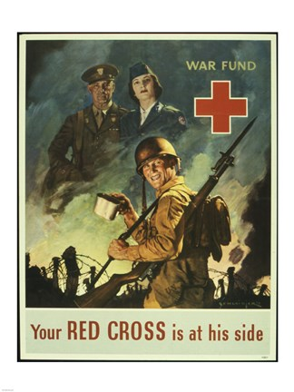 Framed Your Red Cross is at His Side Print