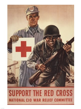 Framed Support the Red Cross Print