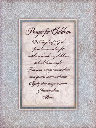 Framed Prayer for Child Print