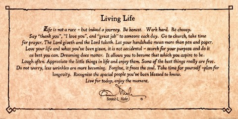 Living Life Bonnie Mohr Quote Amusing Living Life Quote Fine Art Printbonnie Mohr At Fulcrumgallery