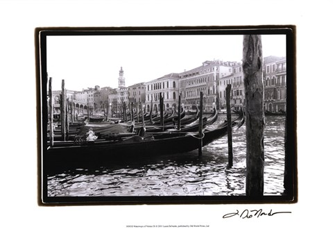 Framed Waterways of Venice IX Print