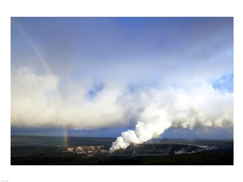 Framed Rainbow and Sulfur Dioxide Emissions from the Halema`uma`u Vent Print