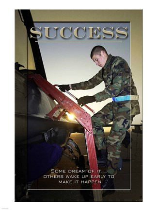 Framed Success Affirmation Poster, USAF Print