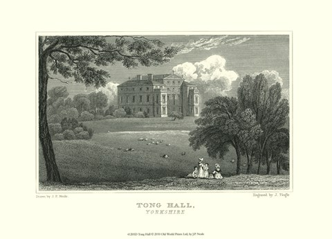 Framed Tong Hall Print