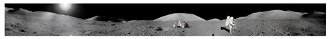 Framed Apollo 17 Moon Panorama Print