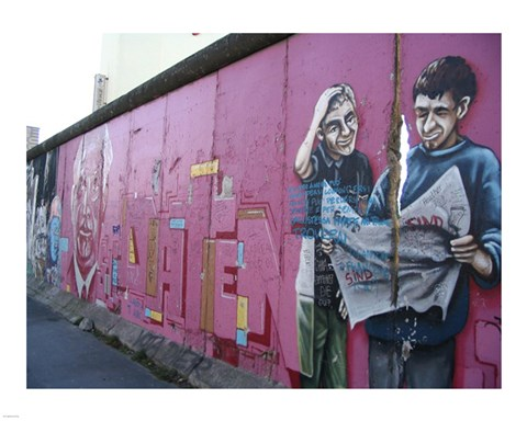 Torn Newspaper Berlin Wall