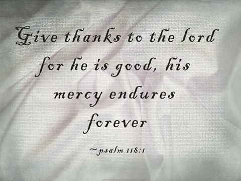 Framed Give Thanks to the Lord Print