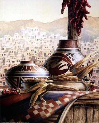 Southwest Pottery Fine Art Print By T C Chiu At