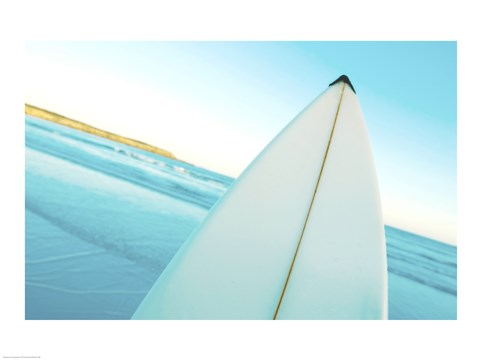 Framed Close-up of a surfboard, Fishery Bay, Australia Print
