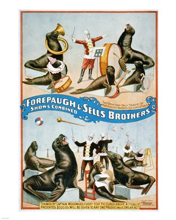 Framed Forepaugh & Sells Brothers Print