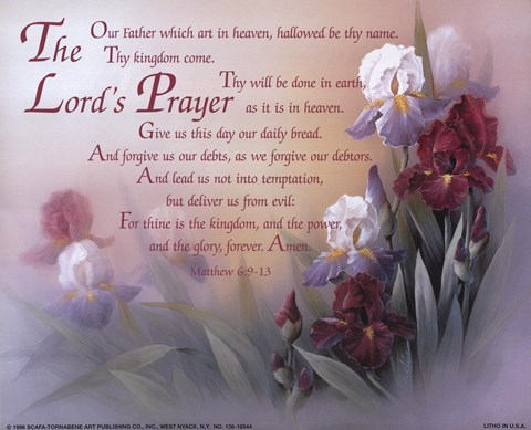 The Lord S Prayer Fine Art Print By T C Chiu At