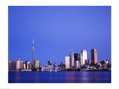 Framed Buildings on the waterfront, Toronto, Ontario, Canada Print