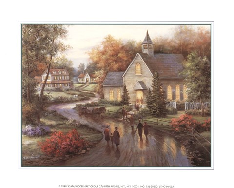 Country Church Fine Art Print By T C Chiu At