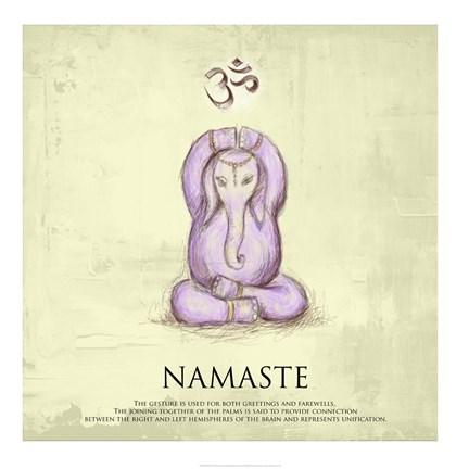 elephant yoga namaste pose fine art printveruca salt