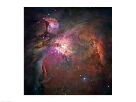 Framed Star formation in space, Orion Nebula Print