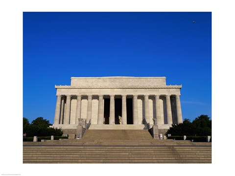 Framed Facade of the Lincoln Memorial, Washington, D.C., USA Print