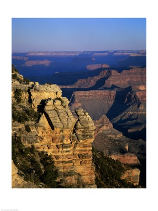 Framed High angle view of rock formations, Grand Canyon National Park, Arizona, USA Print