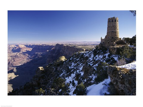Framed Ruin of an old building on a cliff, Grand Canyon National Park, Arizona, USA Print