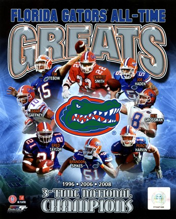 Framed University of Florida Gators All Time Greats Composite Print