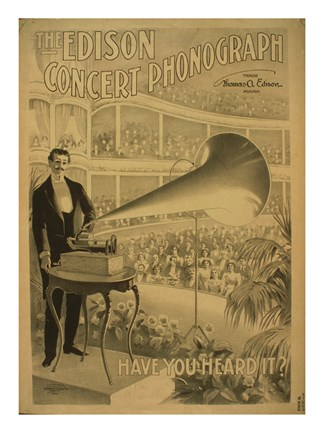 Framed Edison concert phonograph Have you heard it Print