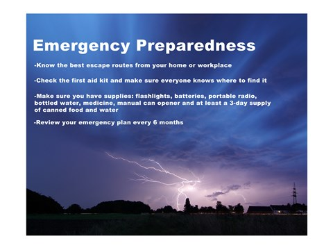 Framed Emergency Preparedness Print