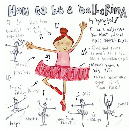Framed How to be a Ballerina Print