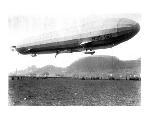 Framed Zeppelin Airship LZ 11 Viktoria Luise on May 5, 1912 in Marburg Print