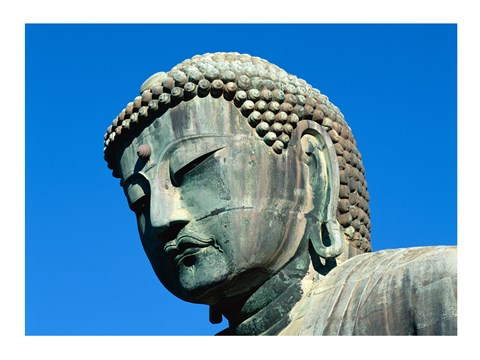Framed Close-up of a statue, Daibutsu Great Buddha, Kamakura, Japan Print