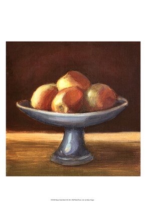 Framed Rustic Fruit Bowl II Print
