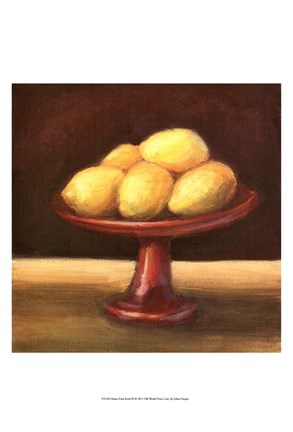 Framed Rustic Fruit Bowl III Print