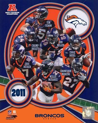 Framed Denver Broncos 2011 AFC West Division Champions Team Composite Print 6d7ece718