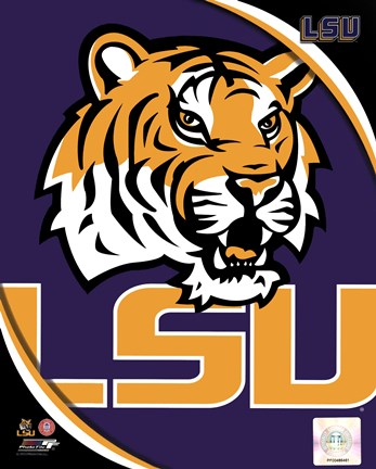 Louisiana State University Tigers Team Logo Fine Art Print by ... 11f59eb62