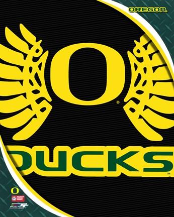 University Of Oregon Ducks Team Logo Fine Art Print By