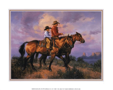 Daddy S Shadow Fine Art Print By Jack Sorenson At