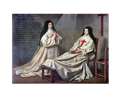 Framed Mother Catherine-Agnes Arnault and Sister Catherine de Sainte Suzanne de Champaigne Print