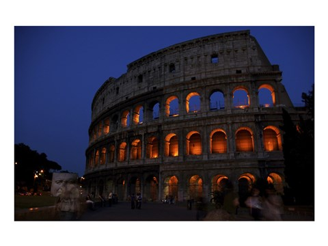 Framed Colosseum at Night Print