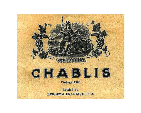 Framed Chablis Wine Label Print