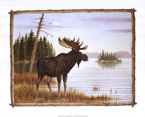 Framed Mighty Moose Print