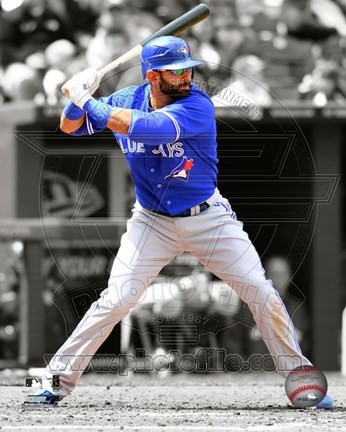 Framed Jose Bautista 2012 Spotlight Action Print