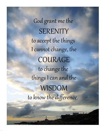 Serenity Prayer Skies Fine Art Print By Unknown At