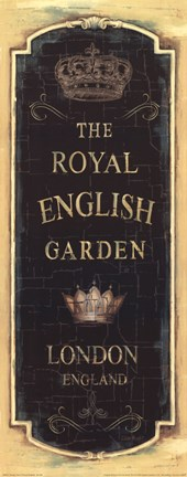 Framed Garden View IX - Royal English Print