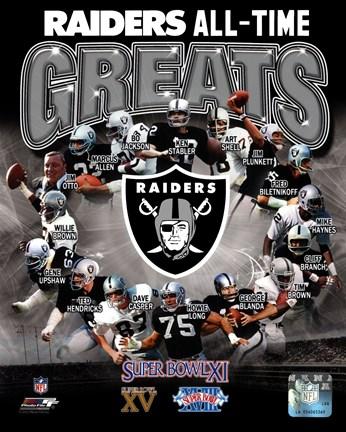 Oakland Raiders All Time Greats Composite Fine Art Print
