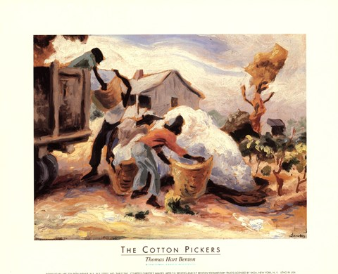 Framed Cotton Pickers Print