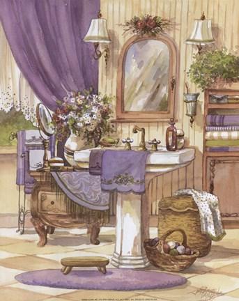 Victorian Bathroom II Fine Art Print by Jerianne Van Dijk ...