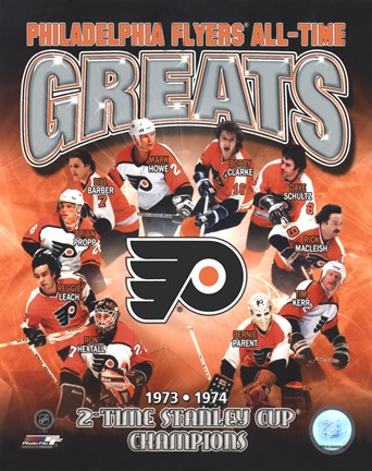 Framed Philadelphia Flyers All-Time Greats Composite Print