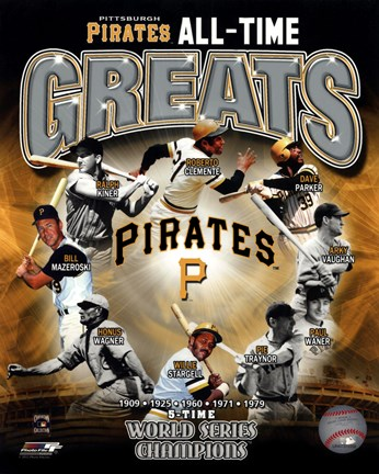 Framed Pittsburgh Pirates All-Time Greats Print