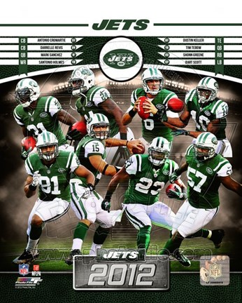Framed New York Jets 2012 Team Composite Print
