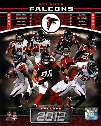 Framed Atlanta Falcons 2012 Team Composite Print