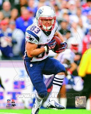 Framed Wes Welker 2012 Running Action Print