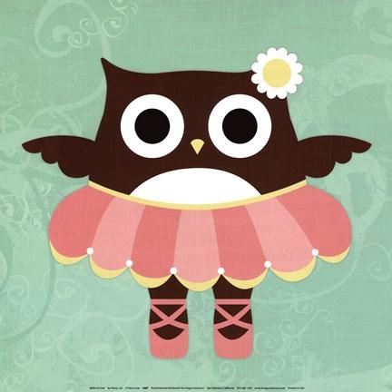 Framed ballerina owl print